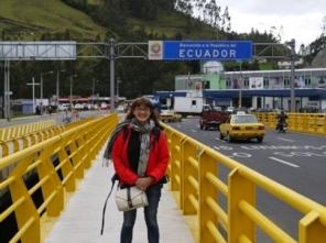 Obligatory border crossing shot